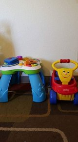 table toy and fisher price wagon in Fort Irwin, California