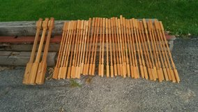 Unfinished Oak Stair Spindles 30 small posts and 3 large posts in Aurora, Illinois