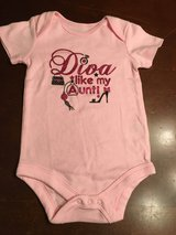 """Girls onsie 6-9 month """"Diva like my Aunt"""" in Wheaton, Illinois"""