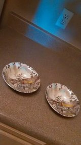 2 Soup Salad Bowls Vintage Dickens WH Grindley Staffordshire Coaching in Fairfield, California