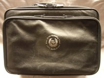 """Laptop Computer Bag, Black Leather -- Brae Run Country Club """"2005 International"""" issue. in Ramstein, Germany"""
