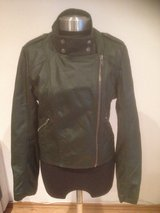 Black Leather Biker Jacket in Ramstein, Germany