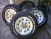 FACTORY F150 5 LUG 15'' ALUMINUM WHEELS WITH TIRES in Gloucester Point, Virginia