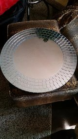 Silver Round Contemporary Mirror in Clarksville, Tennessee