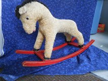 Antique, Mohair child's Riding Horse with Wooden Rockers in Naperville, Illinois