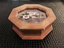 *REDUCED* Vintage Octagon Stained Glass Jewelry Box in Okinawa, Japan