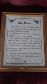 23rd Psalm picture in frame in Ramstein, Germany
