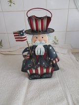 Uncle Sam 4th of July Patriotic Flag Candle Holder in Lakenheath, UK