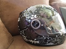 Woman's motorcycle helmet in Camp Pendleton, California