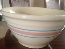4- Mc Coy Bowls  Cream colored with blue and pink strip in Houston, Texas