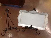 Lulu Decor Dry Erase Board / With (2) Cast Iron Fleur De Lis Easels in The Woodlands, Texas