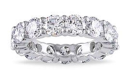 ***BRAND NEW***6 CTTW C Z Eternity Band in 18K White Gold***SZ 8 in Cleveland, Texas