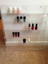 Nail polish rack in Fort Sam Houston, Texas