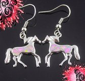 New - Horse Pink Fire Opal Dangle Earrings in Alamogordo, New Mexico