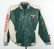 Steve & Barry's Faux Leather MEXICO Jacket Mens sz 2X Mexican Flag Theme Coat in Morris, Illinois