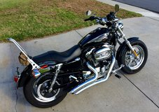 2014 Harley Davidson Sportster XL 1200 Custom with Vines Hines Big Radius 2 into 2 Exhaust in Pearl Harbor, Hawaii
