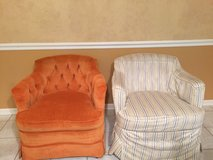 2 Vintage armchairs with slipcovers in St. Charles, Illinois