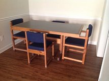 Solid wood Table and 4 chairs in Fort Benning, Georgia