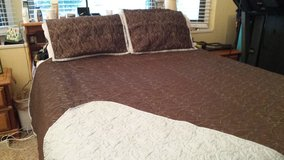 Queen size bedspread with shams and bed skirt in Beaufort, South Carolina