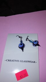 Handmade glass earrings in 29 Palms, California
