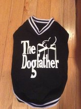 Pet Shirt Black & White -The Dogfather - small - medium in Naperville, Illinois