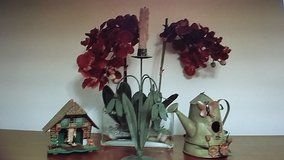 (4)   Vintage Collectables / Weather Station,Metal Floral Base & Candle,Flower arrangement in Gl... in O'Fallon, Missouri