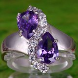 New - Amethyst and White Topaz Ring - Size 8 in Alamogordo, New Mexico