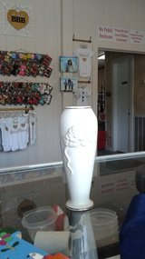 Lenox fine china rose vase with gold accents in Conroe, Texas