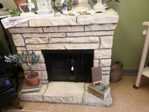 vintage fireplace with heater in Naperville, Illinois