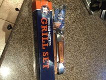 Houston Astros 3 Piece BBQ Grill Set Spatual Tongs Marinade Brush - NEW in Kingwood, Texas