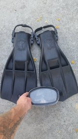 Dive fins and mask in Camp Pendleton, California
