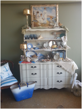 white dresser with shelves in Naperville, Illinois