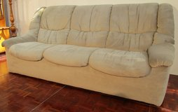 3 Seater Beige Couch With no pillows in Ramstein, Germany