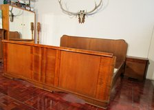 Antique Solid Wood Kingsize Bed with Closet and 2 Nightstands in Ramstein, Germany