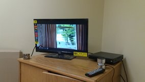 24 Inch 4mo old TV and DVD player in Camp Casey, South Korea