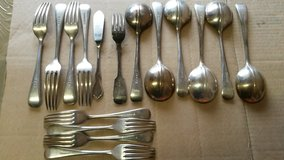 silver forks and spoons in Lakenheath, UK