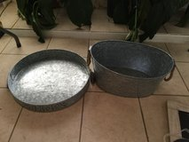 Galvanized party buckets/tray in Cleveland, Texas