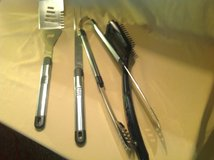 Grilling utensils-quality 4 pc. Stainless Steel-never used in Conroe, Texas