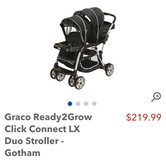 Graco double stroller click connect gotham in San Clemente, California