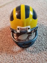Riddell mini football helmet Michigan Wolverines in Naperville, Illinois