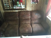 Microfiber couch/2 recliners in Lawton, Oklahoma