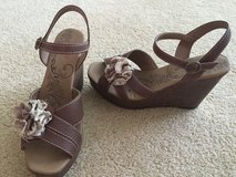 Brand New! Brown Wedge Sandals, Size 8.5 in Naperville, Illinois