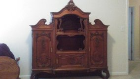 BEAUTIFUL French Hardwood Hand Carved Antique Buffet. in Columbia, South Carolina