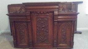 Beautiful Hand Carved Hardwood Cabinet in Columbia, South Carolina