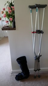 Adult Crutches and Boot in Bolingbrook, Illinois