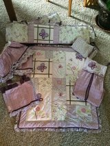 "Crib Bedding Set-Cocalo ""Sugar Plum""-EUC!! in Bolingbrook, Illinois"