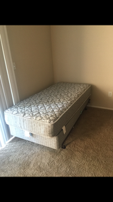 Twin bed with mattress and box spring in Virginia Beach, Virginia