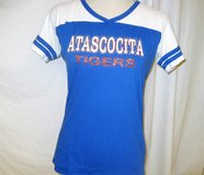 Atascocita Middle School Mom's Bling Tiger Shirt Fitted XL Blue White Football Turner Softball B... in Kingwood, Texas