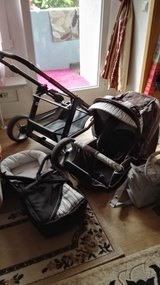 Tetonia Mistral all weather 3 in 1 turbo 4 S stroller system,Cappuccino color in Ramstein, Germany