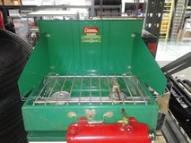 Coleman Camping Gas/Kerosene Stove and Cooler. in Elgin, Illinois